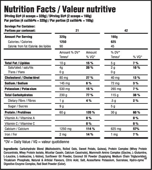 mammoth_mass_supplements_facts